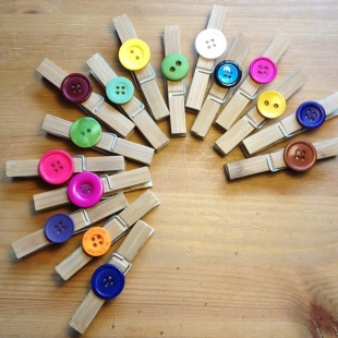 Recycled Hand decorated pegs