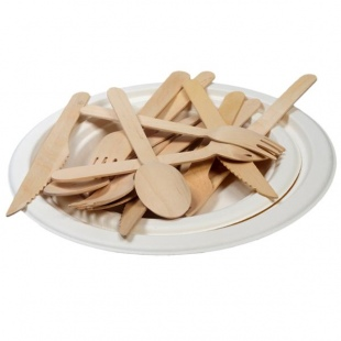 birch wood cutlery