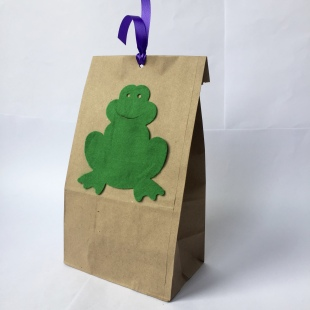 Party Bag Felt Frogs Recycled