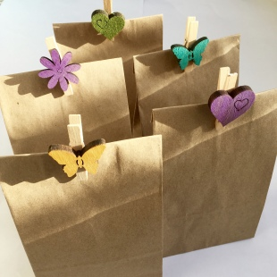 Party Bag Recycled Small with pegs