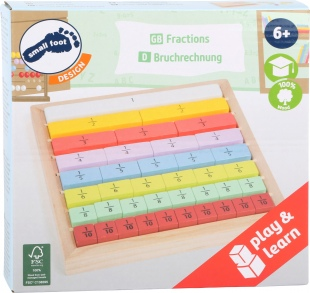 Learn Fractions Wooden Toy