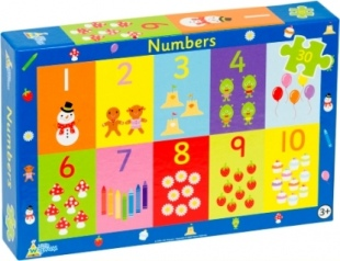 Numbers Jigsaw Puzzle Recycled