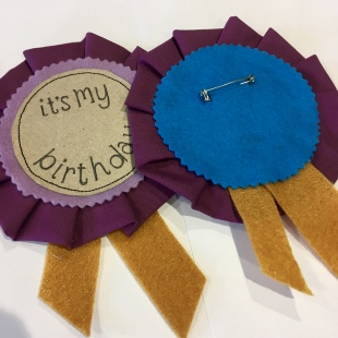Birthday Rosette Purple