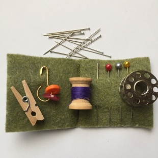 Inside Handmade Mini Sew Kit