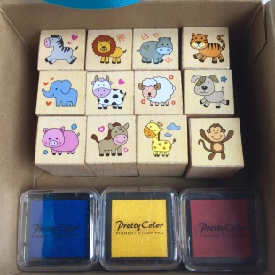 Stamps Animal in Gift Box